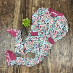 Burts Bees Baby Floral Footie Pajamas 18M
